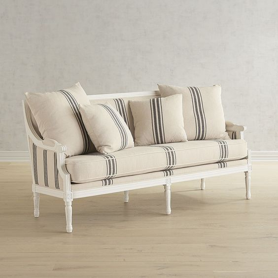 Magnolia Home Parlor White Settee at Pier 1