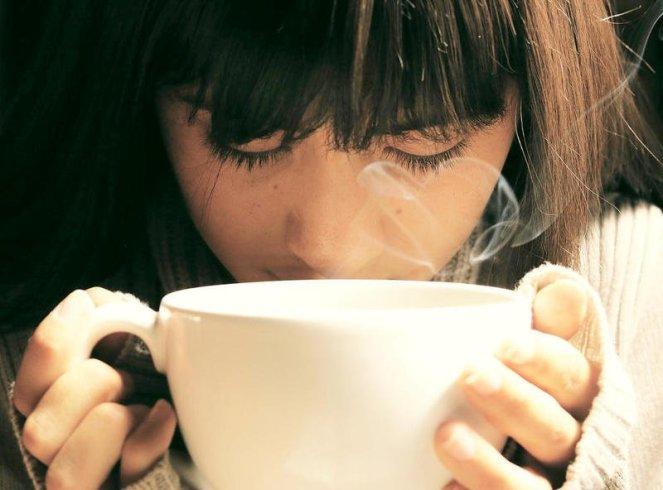 Modern Domestic Woman Drinking Tea